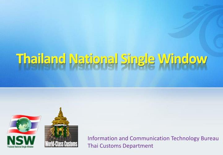Thailand National Single Window: NSW